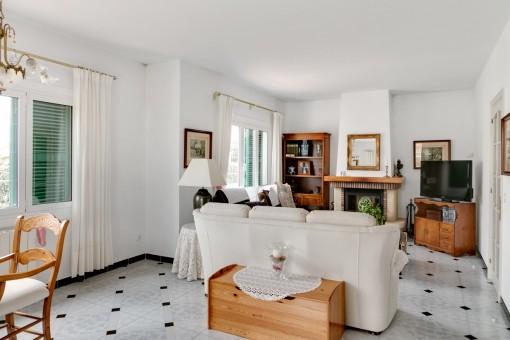 Atractiva sala de estar